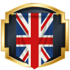 great britain flag in blue icon