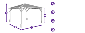 Utopia 300 Gazebo measurement outline