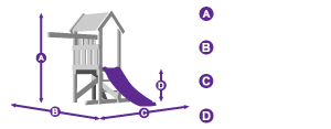 MicroFort Climbing Frame measurement outline