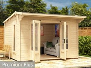 log cabin garden office custimise