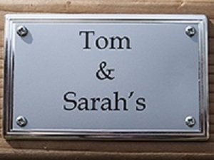 Extras Customise Your Design Silver Nameplate