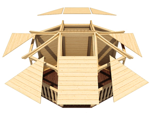 Gazebos Easy To Assemble Panel Roof II