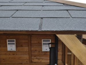 wooden gazebo roof shingles