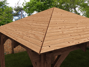 hard top wooden gazebo