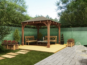 wooden gazebo garden structure and shade
