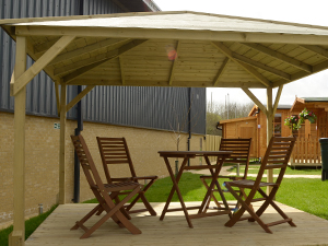 garden wooden gazebo DIY kit