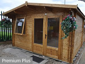 tall walkthrought height for timber garden offices