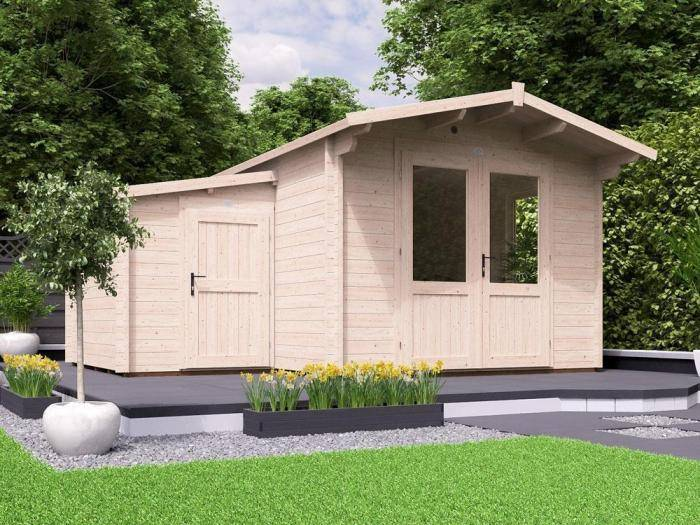 Avon Log Cabin with Sidestore W4.5m x D5.0m | Log Cabins