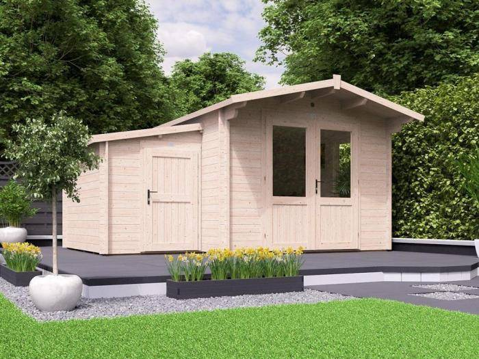 Avon Log Cabin with Sidestore W4.5m x D4.0m | Log Cabins
