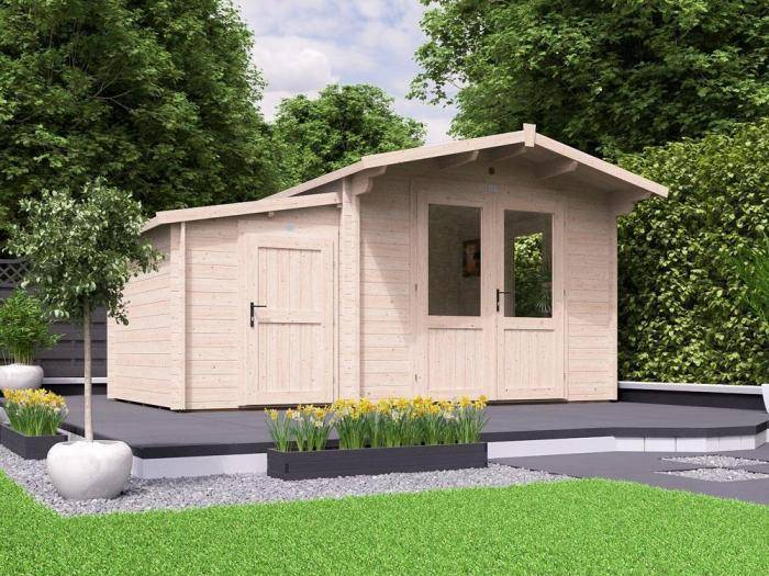 Avon Log Cabin with Sidestore W4.5m x D3.0m | Log Cabins