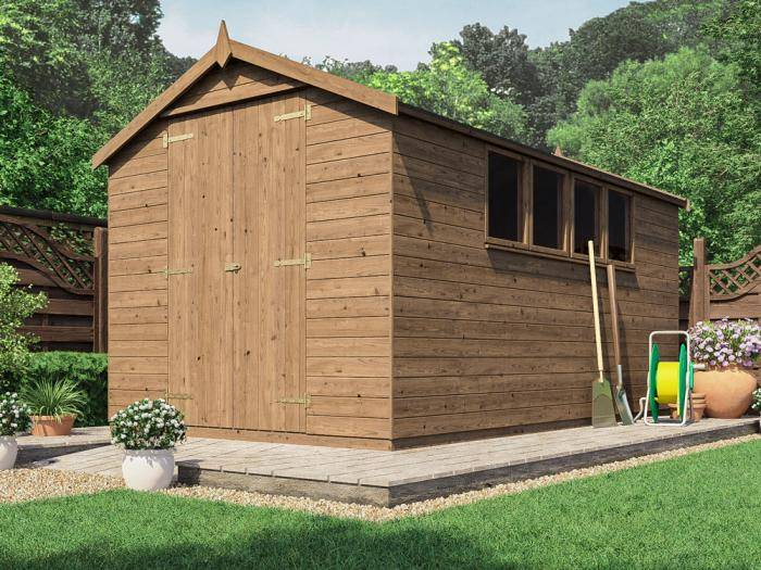 Birgi Heavy Duty Pressure Treated Shed | Sheds & Storage