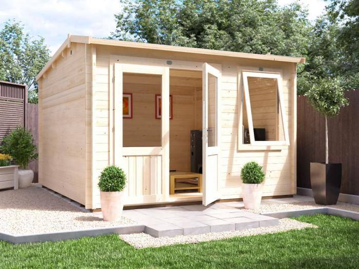 Carsare Log Cabin W3.5m x D3.5m | Log Cabins | Dunster House