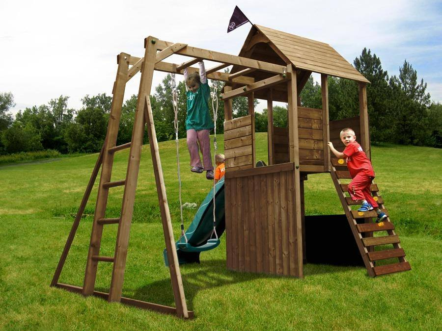 outdoor toys kids swing sets slide set monkey bars garden timber climbing frame ebay. Black Bedroom Furniture Sets. Home Design Ideas