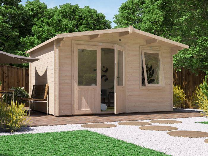 Rhine Log Cabin W4.0m x D3.0m | Log Cabins | Dunster House