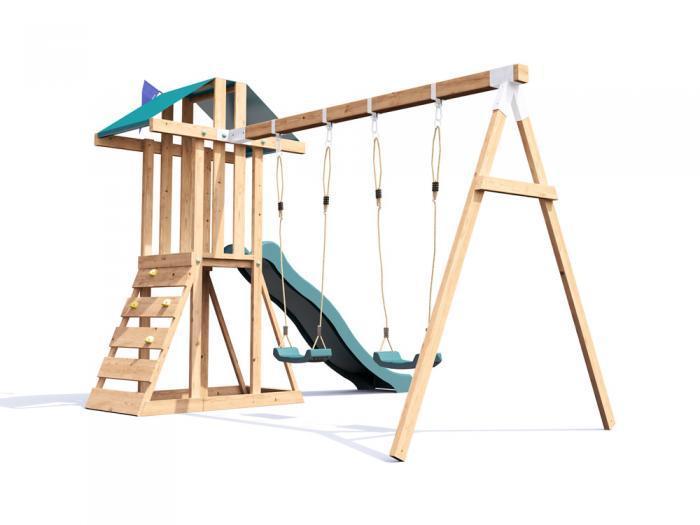 JuniorFort Tower Climbing Frame W3.2m x D2.9m | Climbing Frames