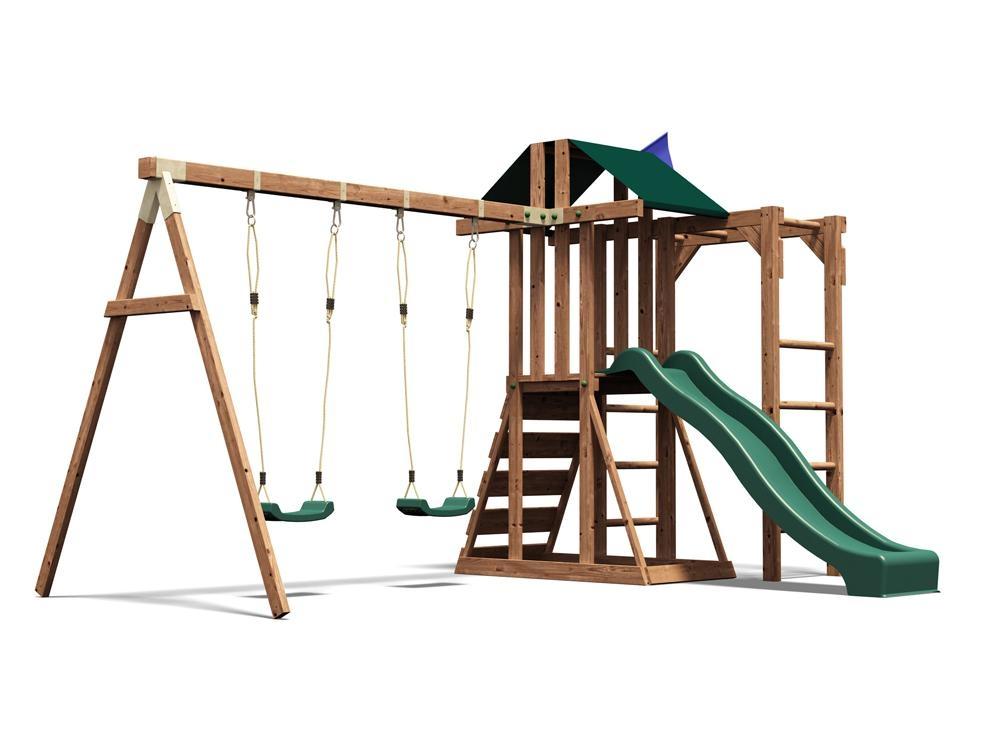 Childrens Climbing Frame Swing Sets Slide Monkey bars Play House ...