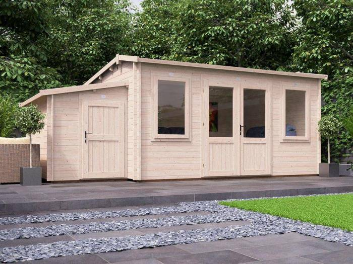 Lantera Log Cabin with Sidestore W6.0m x D3.5m | Log Cabins