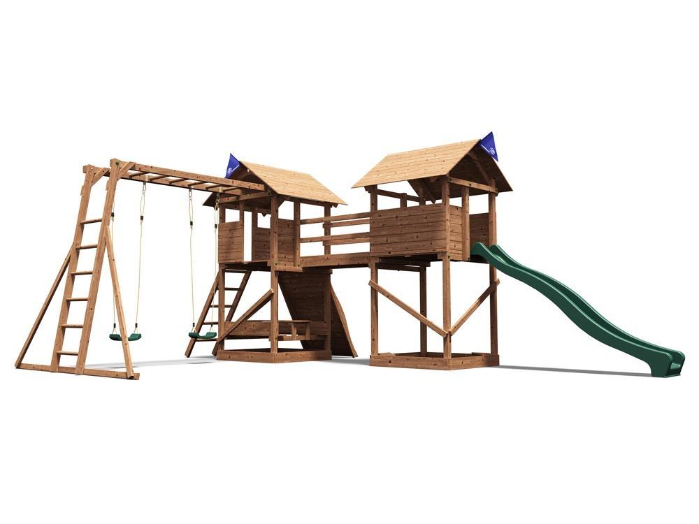 Kids Climbing Frame Childrens Swing Sets Slide Climbing Wall ...
