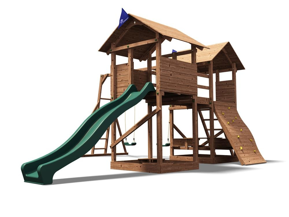 Kids Climbing Frame Childrens Swing Sets Slide Climbing Wall ...