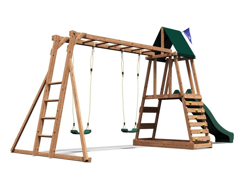wooden climbing frame children 39 s swing slide sets sandpit rock wall monkey bars ebay. Black Bedroom Furniture Sets. Home Design Ideas