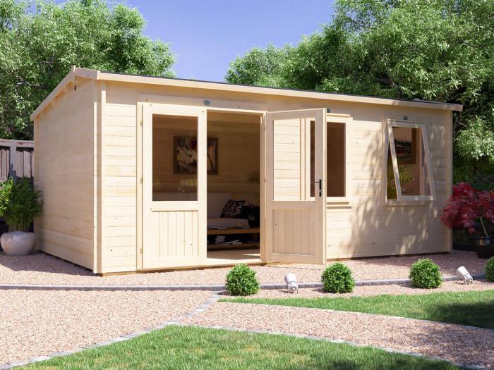 Modetro Log Cabin W5.5m x D3.5m | Log Cabins | Dunster House