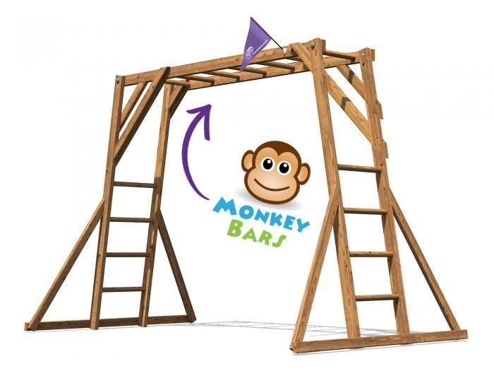 Monkey Bars W3.2m x D1.9m | Climbing Frames | Dunster House