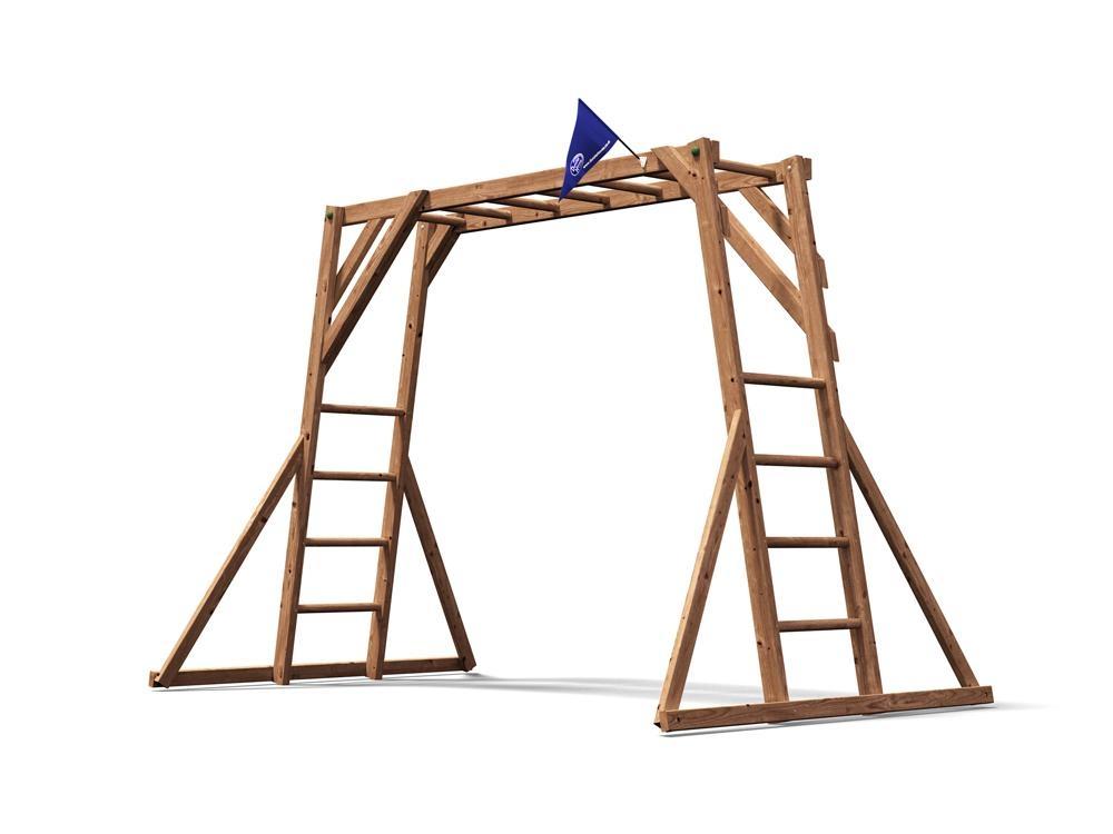 Monkey bars climbing frame x climbing frames for Ecksofa 2m x 2m