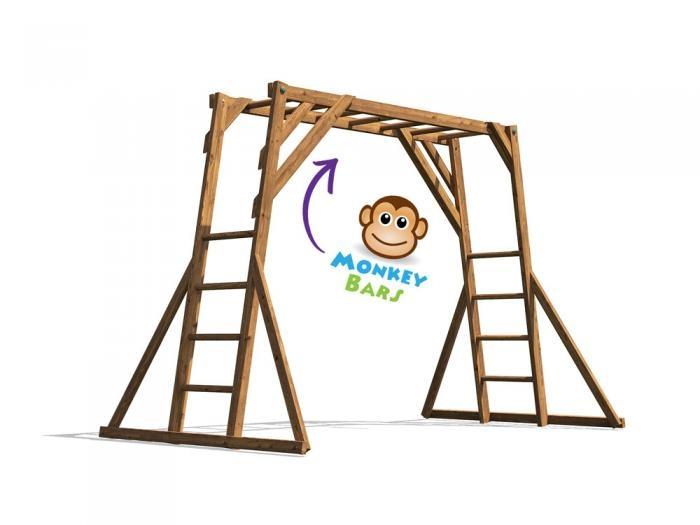 Monkey Bars W3.2m x D1.9m | Climbing Frames | Dunster House