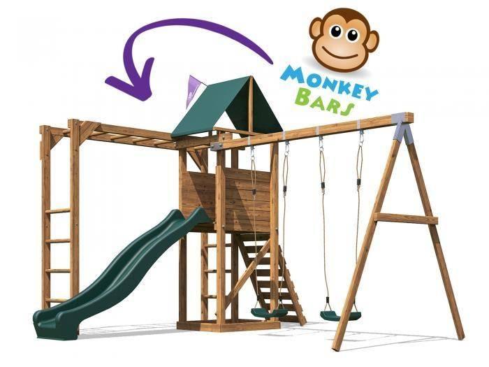 MonkeyFort Woodland Climbing Frame | Climbing Frames