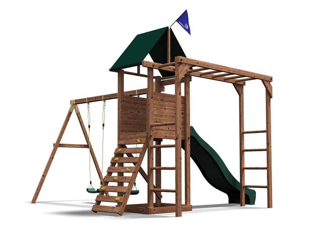 Climbing Frame Kids Swings Set Slides Tower Playhouse Monkey Bars ...