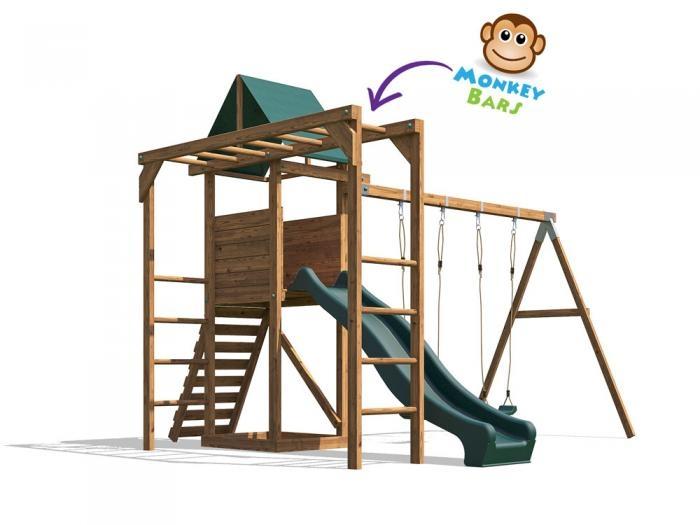 MonkeyFort Woodland W3.8m x D3.4m | Climbing Frames