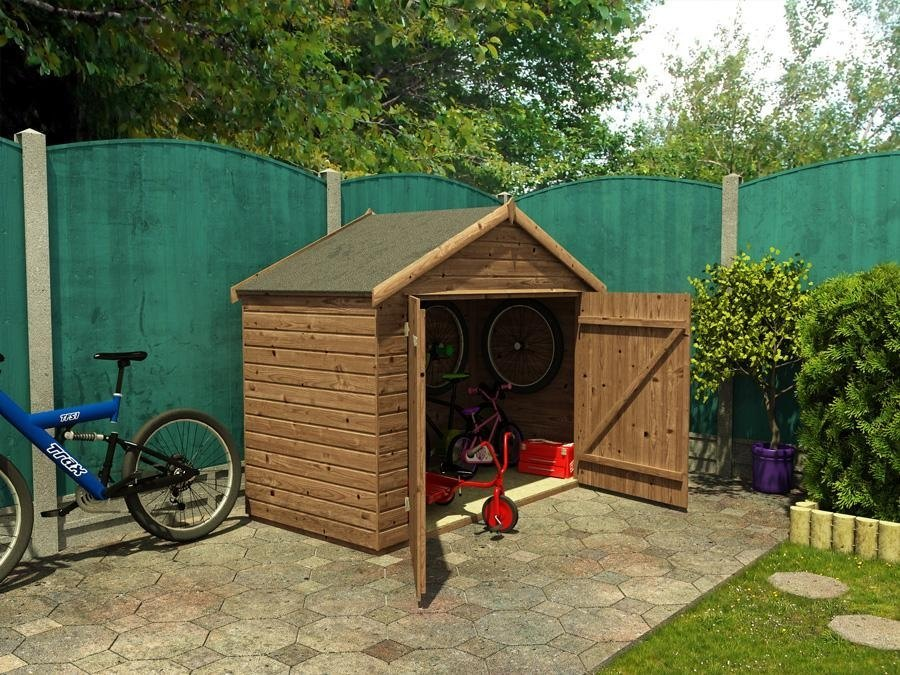 bike shed small garden bikes storage cycle sheds store. Black Bedroom Furniture Sets. Home Design Ideas