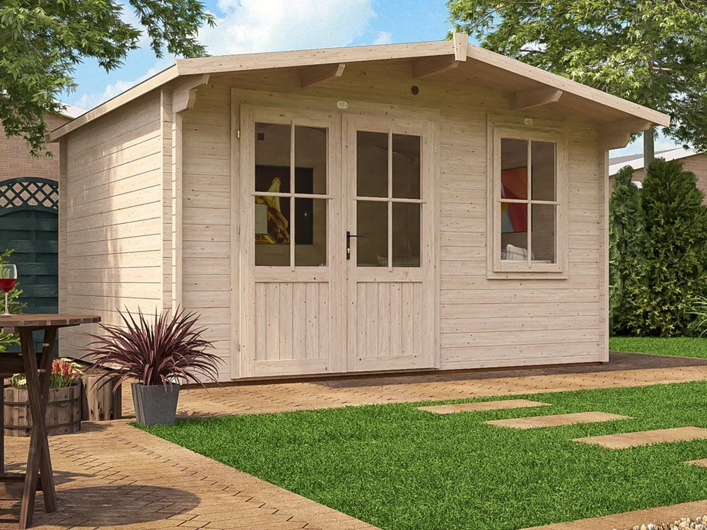 Log Cabin Garden Office Wood Summer House Man Cave W4m X