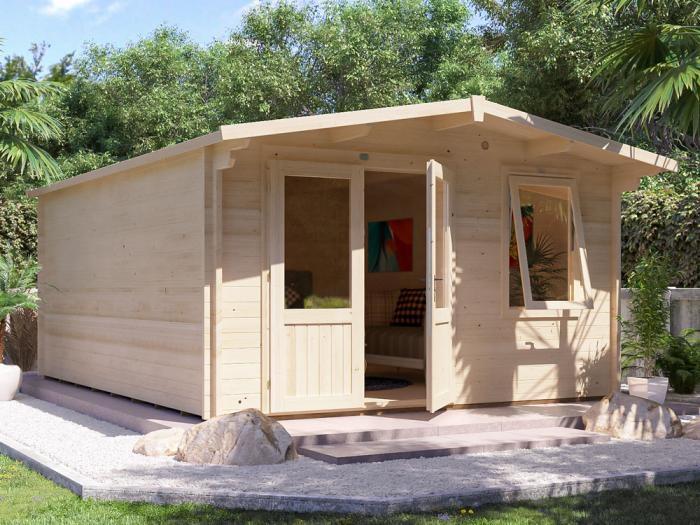 Rhine Log Cabin W4.0m x D5.0m | Log Cabins | Dunster House