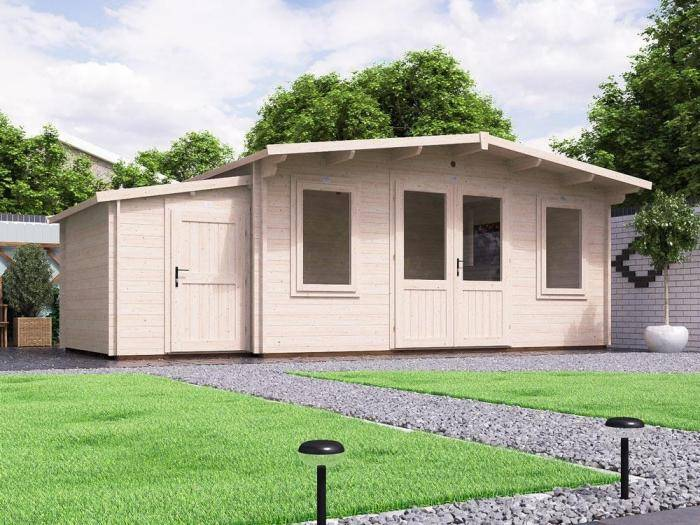 Severn Log Cabin with Sidestore W6.5m x D3.0m | Log Cabins