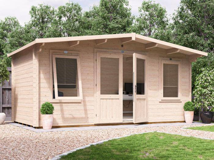 Severn Log Cabin W5.0m x D2.5m | Log Cabins | Dunster House