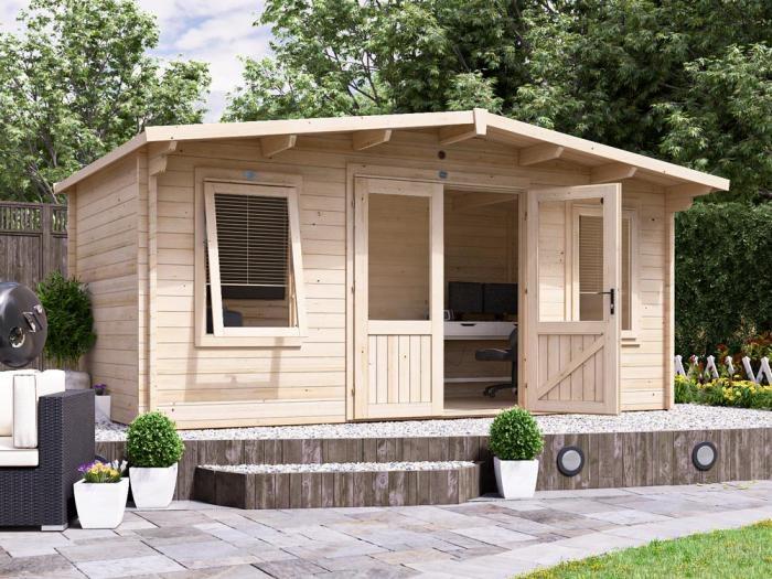 Severn Log Cabin W5.0m x D2.5m | Log Cabins | Dunster House