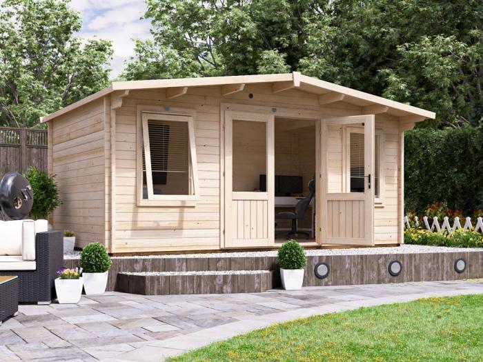 Severn Log Cabin W5.0m x D3.0m | Log Cabins | Dunster House