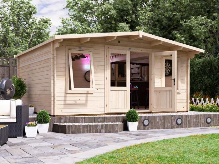 Severn Log Cabin W5.0m x D4.0m | Log Cabins | Dunster House