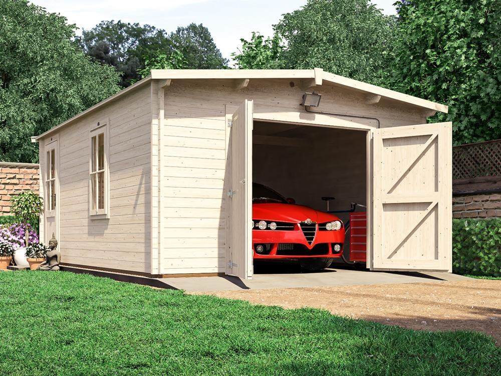 Trent lo roof wooden garage x garages for 3 car garage shed