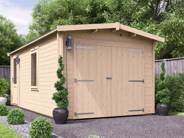 Trent Lo-Roof Wooden Garage W3.05m x D5.5m | Garages
