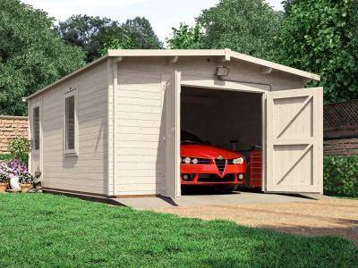Trent lo roof wooden garage x garages for Garage macon saint lo