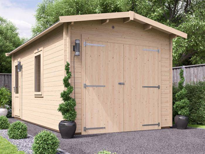 Trent Wooden Garage W3.05m x D5.5m | Garages | Dunster House