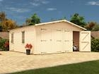 Deore Double Wooden Garage W5.9m x D5.5m
