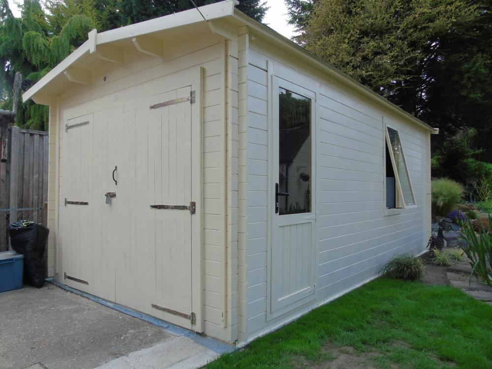 Trent Lo Roof Wooden Garage W3 05m X D5 5m Garages