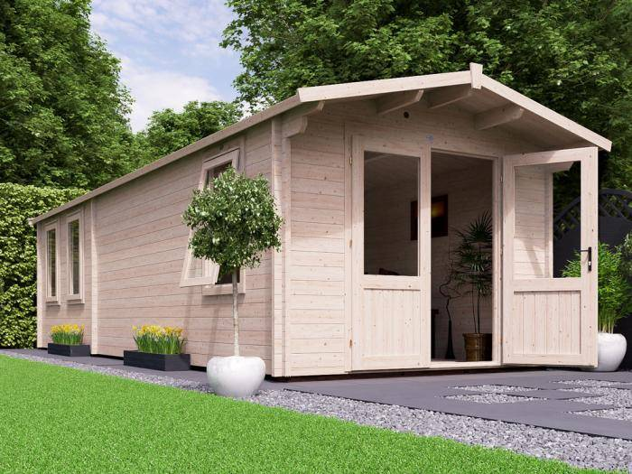 Avon Grande Log Cabin W3.0m x D8.0m | Log Cabins