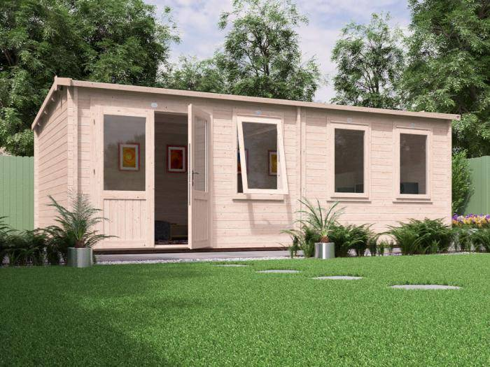 Carsare Grande Log Cabin W6.5m x D3.5m | Log Cabins