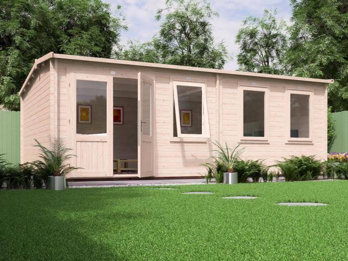 Carsare Grande Log Cabin W6.5m x D4.5m | Log Cabins