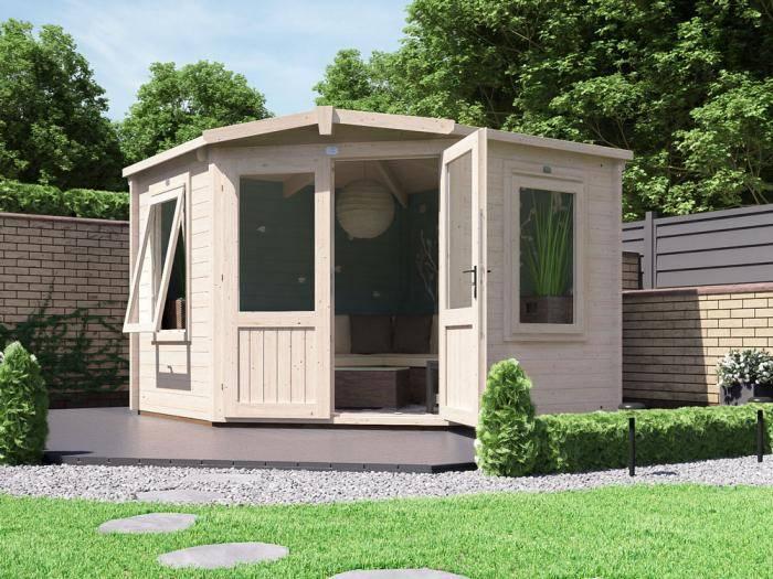 Coronet Log Cabin W3.0m x D3.0m | Log Cabins | Dunster House