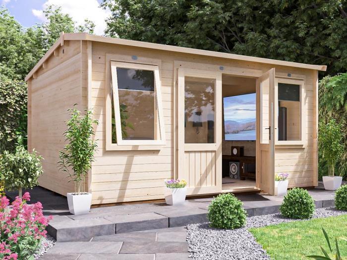 Lantera Log Cabin W4.5m x D3.5m   Log Cabins   Dunster House